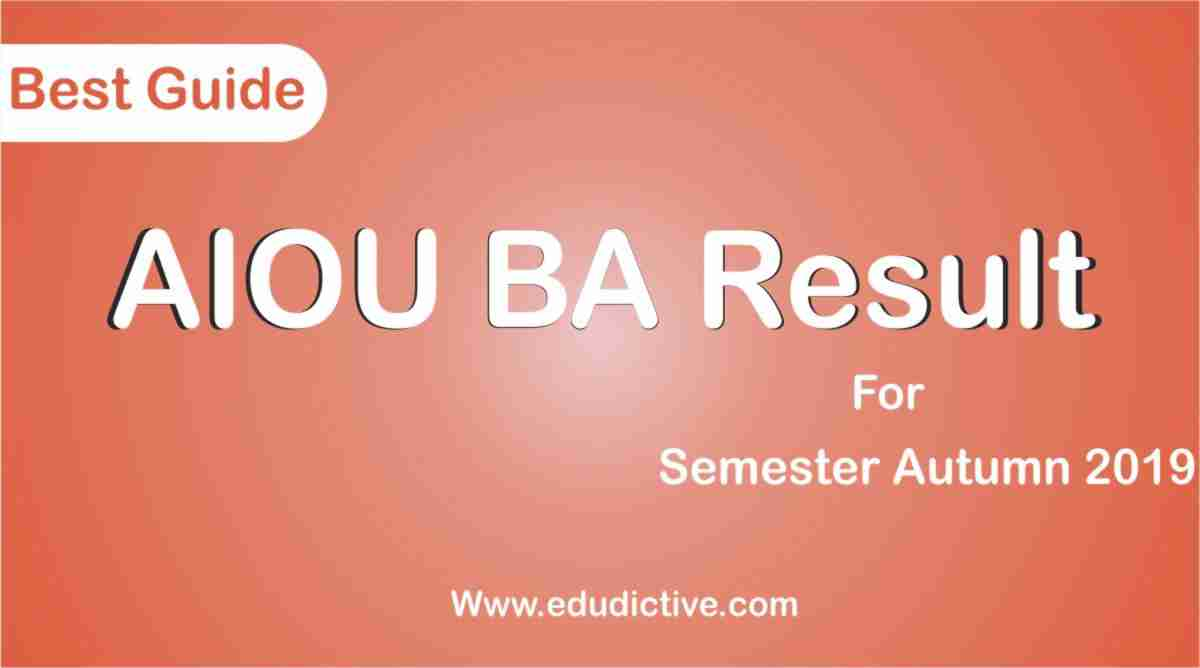AIOU Result BA autumn 2019