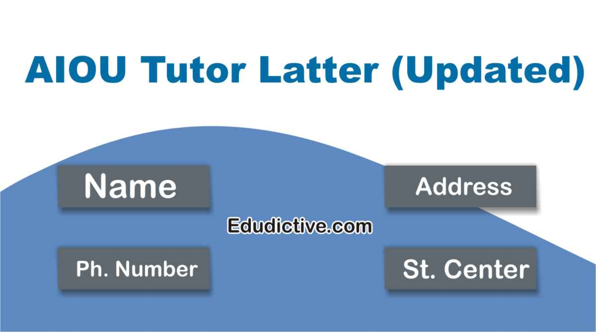 Check AIOU Tutor Letter Address Online