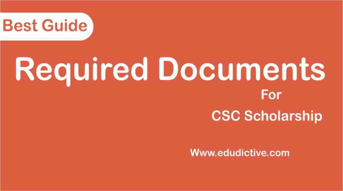 Documents Required for CSC Scholarship