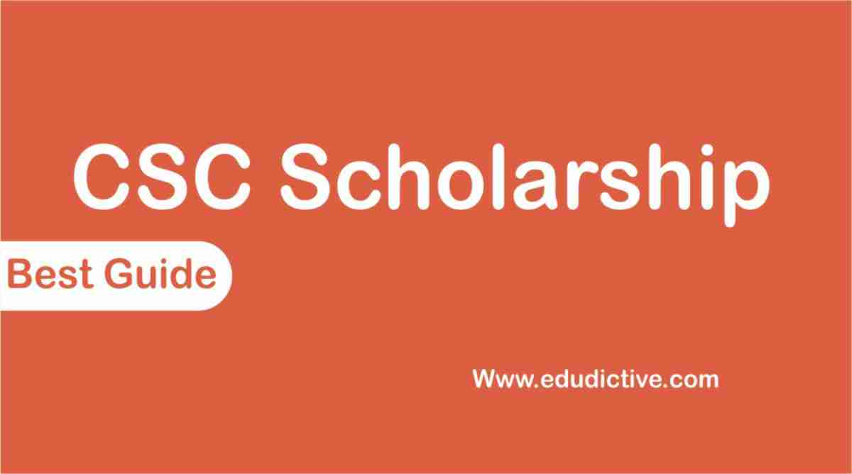 how to apply for CSC Scholarship 2020-21 edudictive