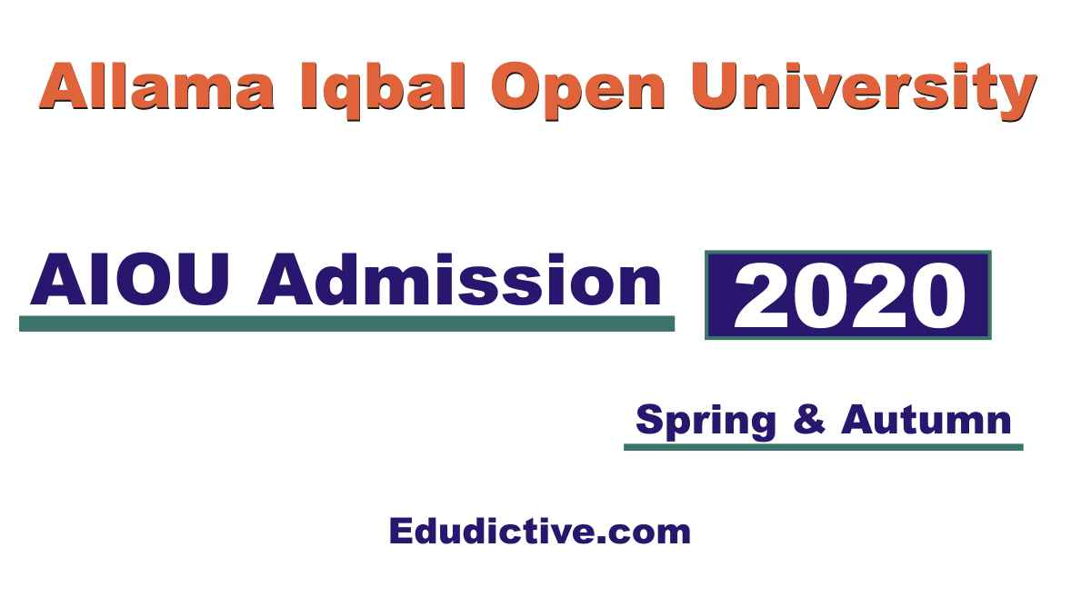 AIOU Online Admission Form Apply Autumn and Spring