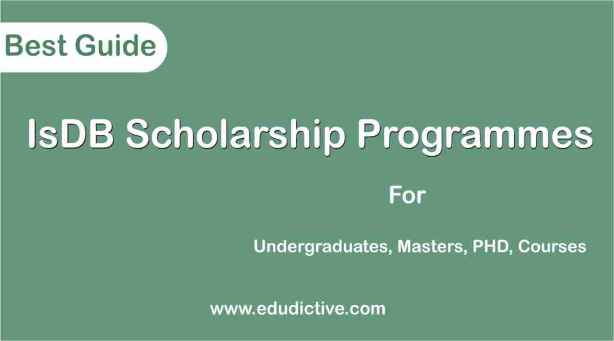 Programmes offered by IsDB Scholarship edudictive.com