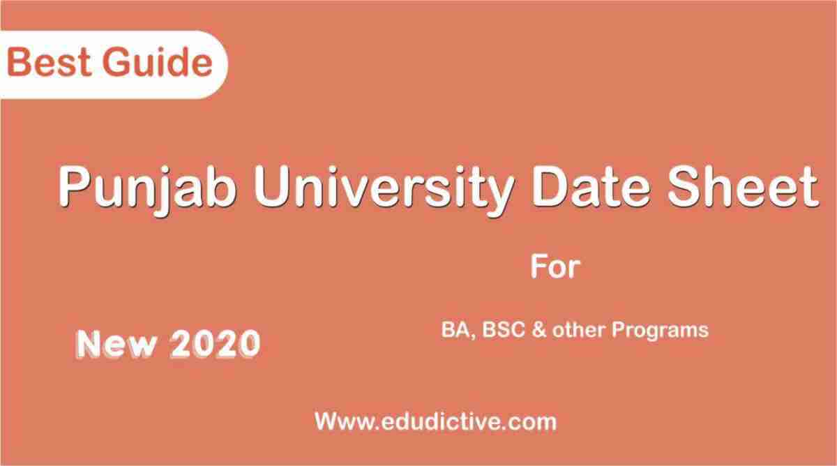 University of the punjab New date sheet 2020