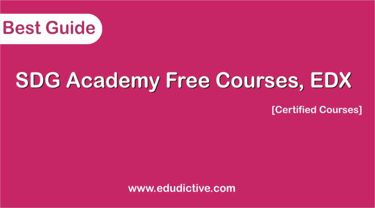 Free online course SDG Academy edx 2020