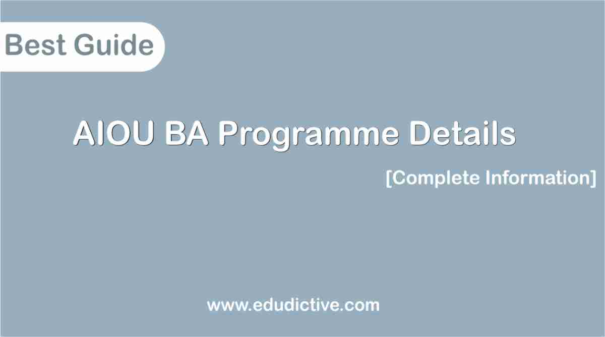 AIOU Ba program edudictive.com