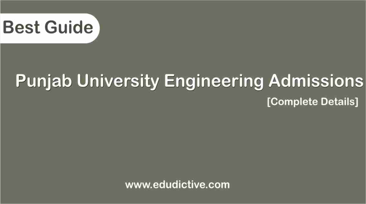 University of the Punjab Engineering Programs admission