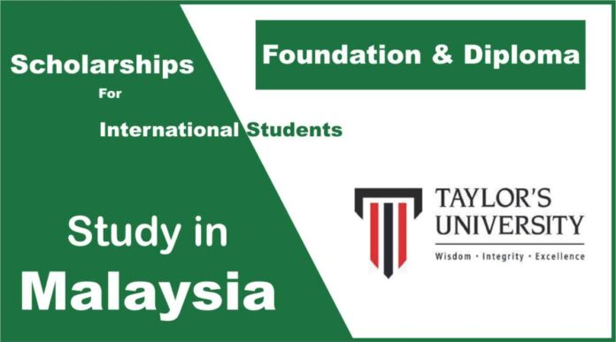Taylor's University Scholarship for International Students to study in Malaysia