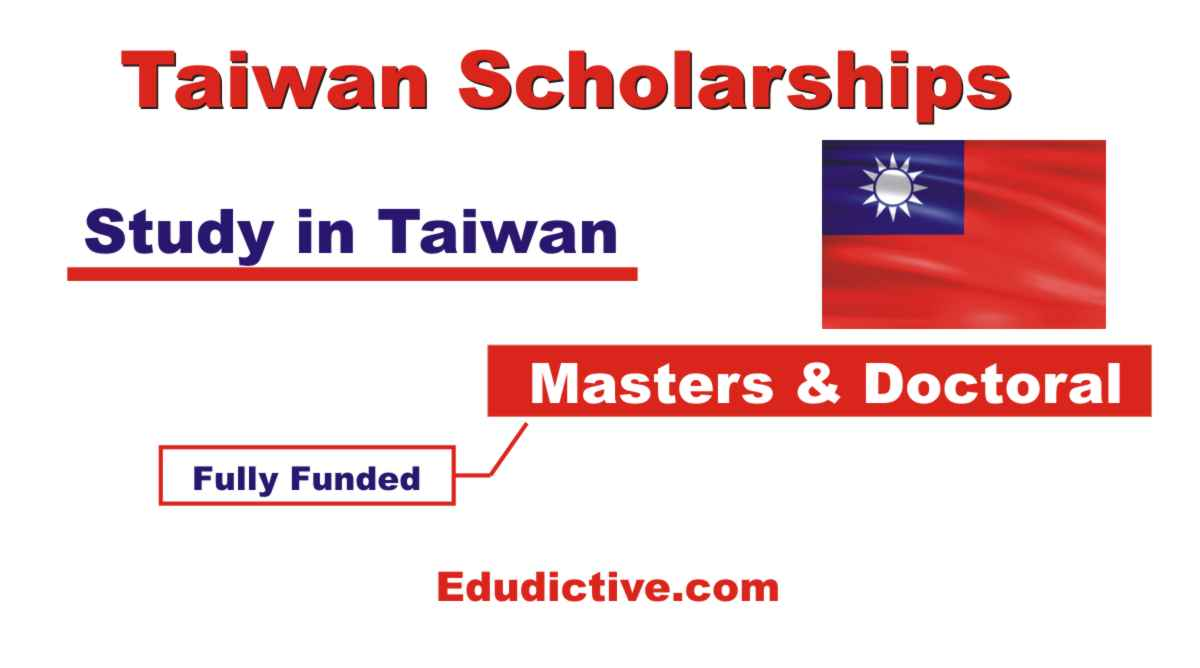 Taiwan Scholarships for international Students fully funded