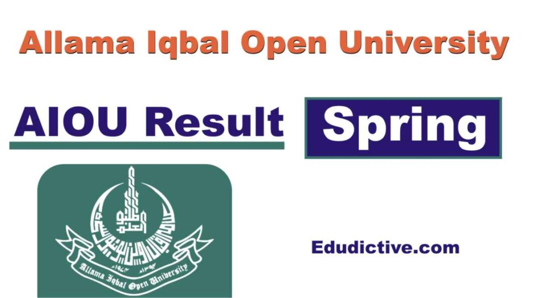 AIOU Result of all programs Spring semester